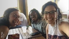 Lunch with my east coast homies Clee and Tabitha (p.s. they're now engaged!! :) )