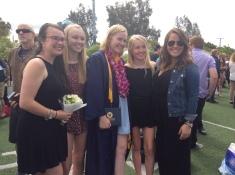 Cousins after Erin's graduation