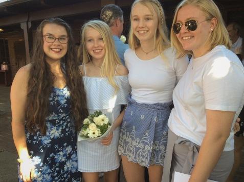 My cousins and I after Tara's graduation
