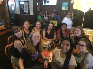 Some of the Florida group and my coworkers at Roscoe's Chicken and Waffle House (YUM!)