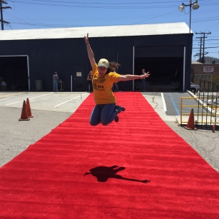 Rolling out the red carpet from the Grammy's called for a HSM photo opp. at Habitat for Humanity