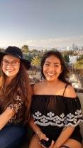 Ferris Wheel views of LA and two pretty ladies